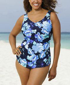Loving this Cobalt Beach Belle Pacifica Sarong One-Piece - Women & Plus on #zulily! #zulilyfinds
