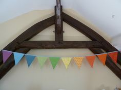 RAINBOW banner/bunting in red yellow green by BettyandBarclay