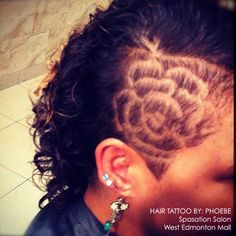 This type of tattoo became popular with men first, who had short hair already and shaved the sides or back of their heads.