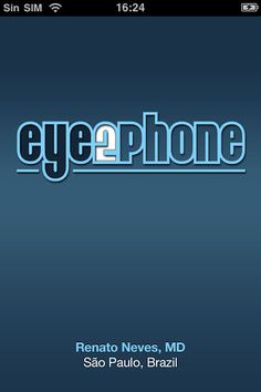 Eye2Phone is designed to assist doctors in evaluating the vision of a patient in the clinic or at the bedside.