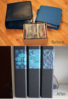 """This looks very, very satisfying.  """"How To Organize CDs and DVDs in Standard Binders Apartment Therapy Tutorials"""""""