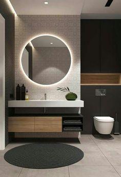 Examples Of Minimal Interior Design For Bathroom Decor 45 Small Bathroom Storage, Simple Bathroom, Washbasin Design, Bathroom Goals, Mirror Bathroom, Bathroom Cabinets, Bathroom Ideas, Bathroom Design Luxury, Bathroom Furniture