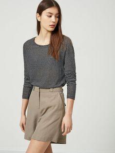 Linen - long sleeved top | BESTSELLER.com