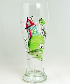 Verre à bière (510 ml) : : Maison   *** Produit peint à la main. Painted Ceramics, Ceramic Painting, Glass Bottles, Glass Vase, Painted Wine Glasses, Candy Jars, Projects To Try, Creations, Couples
