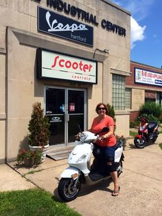 The Delbuono family purchased this Pre-owned 2009 Piaggio Fly 50 to use around town and at the Cape. Thanks for your business & enjoy the ride! :)  #vespa #vespahartford #scooter #scootercentrale #fun #summer #smile