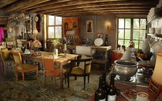 My house MUST have this. The Weasley kitchen. Just. Like. This.