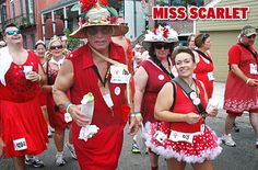 "Thousands of men and women will don red dresses and hit the road in the annual romp through the French Quarter Aug 11, 2012. The New Orleans Hash House Harriers, who tout themselves as ""A Drinking Club with a Running Problem,"" host the annual Red Dress Run, which includes a 2-mile run, live music, barbecue and beer. Flamboyant running attire is encouraged. Proceeds benefit local nonprofit groups."