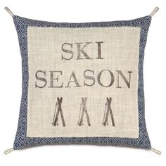 Ski Lodge Season Pillow | Wayfair