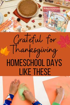 Need some practical ideas for a Thanksgiving Homeschool Unit Study? Here we share everything you need for a special learning experience! By Courtney Messick Homeschool Curriculum Reviews, Homeschool Books, Homeschooling, Thanksgiving Activities For Kids, Thanksgiving Art, Unit Studies, Grateful, Art Lessons, Fall