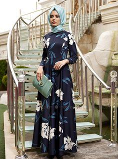 Robe Orchid - Bleu foncé - Robe - Modanisa