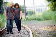 Chicago Wedding Photographer | J. Brown Photography  Chicago engagement session outside the Lacuna Artist Lofts in Pilsen.
