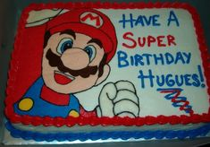 Its a me, Mario! Birthday Cake Video, Mario Birthday Cake, Birthday Sheet Cakes, Super Mario Birthday, Bolo Do Mario, Bolo Super Mario, Mario Bros., Mario Kart, Super Mario Party