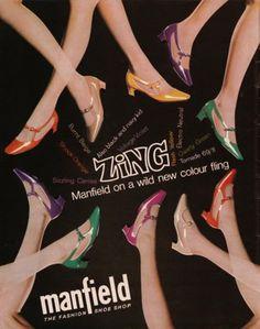 SWEET JANE: Vintage 60s Advert: Manfield Shoes 1967