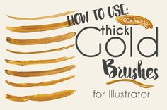 Learn How to Create Gold Paint Brush Strokes in Illustrator