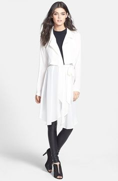 $79, Drape Front Trench Jacket by ASTR. Sold by Nordstrom. Click for more info: http://lookastic.com/women/shop_items/81822/redirect