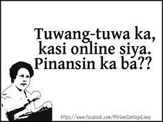Oo naman pinapansin niya ako😊❤❤❤❤❤hahahaha kaso munsan lang siya ma... -  # Tagalog Quotes Hugot Funny, Memes Tagalog, Funny Girl Quotes, Jokes Quotes, Cute Quotes, Best Quotes, Memes Pinoy, Filipino Quotes, Pinoy Quotes