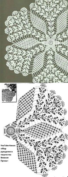 Free Crochet Doily Patterns, Crochet Doily Diagram, Crochet Doilies, Fillet Crochet, Crochet Table Runner, Diy And Crafts, Knitting, Handmade, Lace