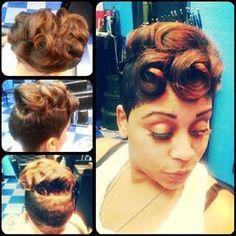 Pin up! MK Hair Dallas @diaryof_ahairstylist