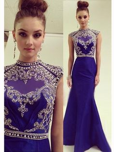 Modest Prom Dresses, Blue Prom Dress, Sexy Prom Dresses, Long Prom Dresses, 2015…