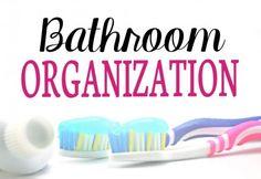 40 Weeks 1 Whole House: Week 31 - Main Floor Bathroom | The main floor bathroom is easy to organize and often overlooked.