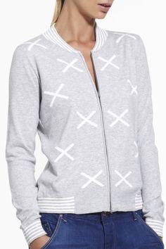 Hypnotic Bomber SS2015 NINETEEN//46 NZ$235 #knitwear #fullyfashioned #summerknitwear #summer #cotton