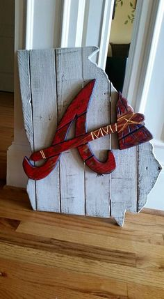 Atlanta Braves Wooden State Sign by BentwoodCustoms on Etsy https://www.etsy.com/listing/246685350/atlanta-braves-wooden-state-sign