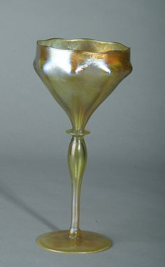 Tiffany 8 sided goblet design. The goblet is signed, L.C.T. D1087