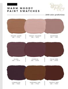 Predicted Paint Colors for 2019 - Room for Tuesday - Home living color wall treatment kitchen design Bedroom Paint Colors, Interior Paint Colors, Paint Colors For Home, House Colors, Interior Painting, Wall Paint Colors, Dining Room Paint Colors, Room Interior, Brown Paint Colors