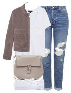 Untitled #4015 by london-wanderlust on Polyvore featuring MANGO, Topshop, adidas Originals, Chloé, women's clothing, women's fashion, women, female, woman and misses