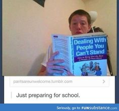Simplemente, preparándome para ir a la escuela