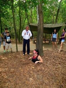 Co Chi Tunnels - one of the VERY small hideaways