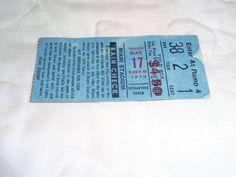 1979 Miami Amigos Baseball Ticket Stub 5/17/1979 Miami Stadium