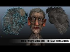 Creating Polygon Hair for Game Characters - YouTube