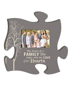 Look what I found on #zulily! 'Family Tree' Puzzle Piece Photo Frame by P. Graham Dunn #zulilyfinds