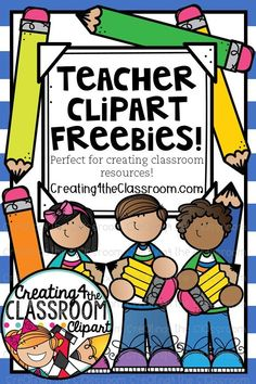 FREE clipart perfect for creating classroom resources for TpT and your classroom! Vibrant clipart would be perfect for classroom decor, bulletin board displays, back to school, teachers pay teachers resources, and classroom organization. Terms of use is included in each download and in my TpT Shop links. Click to view fun clipart freebies and more! Be sure to pin to save for later...#creating4theclassroom #clipart #clipartcute #tpt #classroomdecor #backtoschool