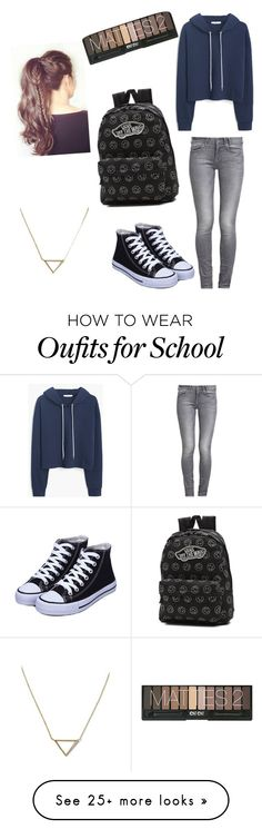 """school"" by tay-scott-0225 on Polyvore featuring MANGO, GUESS, Vans and Banana Republic"