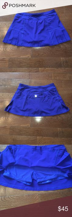 ❤️Athleta Warrior Skirt/Skort-NWOT❤️ Athleta warrior skirt-nwot. Never been worn-perfect condition!! Beautiful blue/purple color. Back zip pocket,no slip grippers on the legs,never ending drawstring at the waist, cute side pleats. Check out my closet for tons of other Athleta & lulu items. Bundle and save!! 🚫lowball offers Athleta Skirts Mini