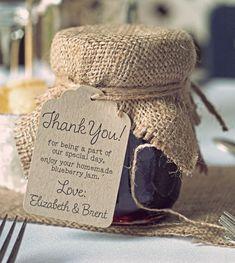 Wedding favour jars, burlap wedding favors и jam jar wedding. Wedding Favors And Gifts, Burlap Wedding Favors, Jam Favors, Wedding Favour Jars, Creative Wedding Favors, Inexpensive Wedding Favors, Elegant Wedding Favors, Edible Wedding Favors, Diy Wedding