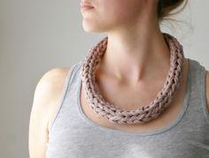 Strickliesel*Textilkette altrosa
