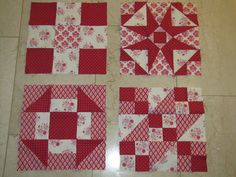 love the colors..a red and white sampler quilt...I like the idea!