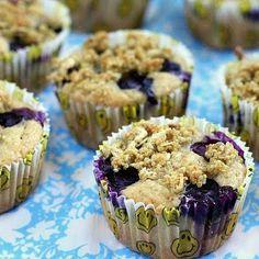 Lemon blueberry Multigrain Muffins. vegan | Vegan Richa