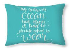 Teal Throw Pillow Dorm Decor Bedroom Decor Teen by Paintspiration