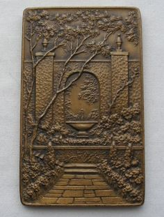RARE Exquisite AMERICAN HOME Achievement BRONZE MEDAL 1945 Gaylord SAN FRANCISCO