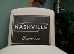 Hometown Map Black and White Art Nashville by johnwgolden on Etsy, $65.00