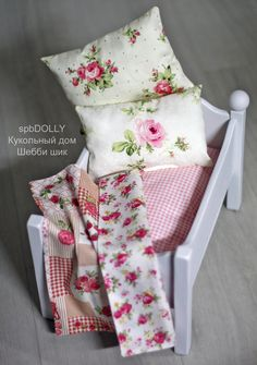 Кроватка SHABBY для кукол с постельным бельём - кроватка,кровать,для детей