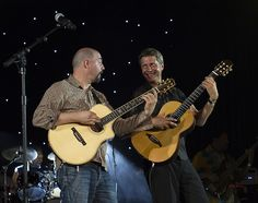 Miles Gilderdale and Greg Carmichael....Acoustic Alchemy perform during the 2011 Catalina Island JazzTrax Festival. —