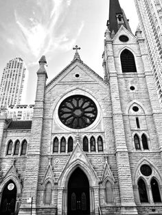 Holy Name Cathedral, Chicago, Church, Chicago Photography, City Photography, Architecture, Large Art Print, Chicago Wall Art, Chicago Prints