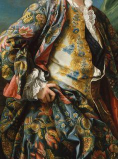 detailsofpaintings: Charles-André Van Loo, Portrait de Jacques-Germain Soufflot (szczegóły) 18 wieku