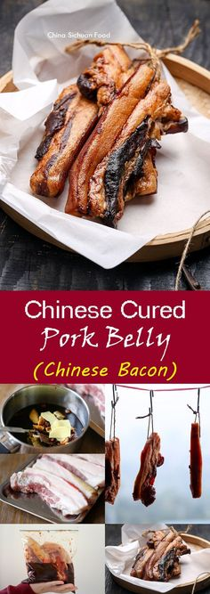 Chinese Cured Pork Belly (Chinese Bacon)腊肉   ChinaSichuanFood.com