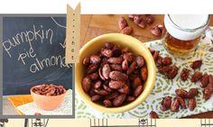 pumpkin spiced almonds